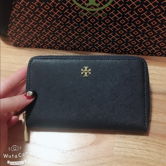 NWT Tory Burch EMERSON Mini Wallet in Black